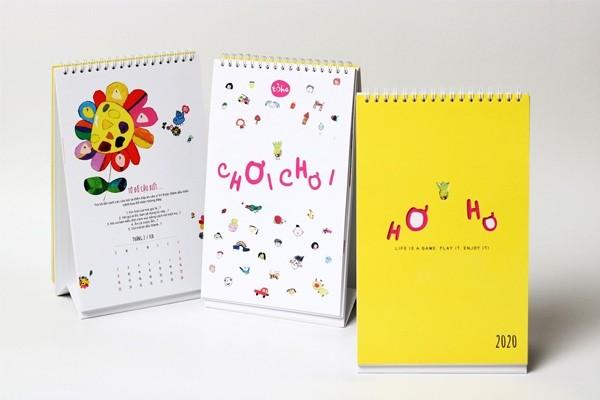 Mẫu lịch để bàn thiết kế độc quyền