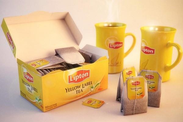 In hộp trà lipton