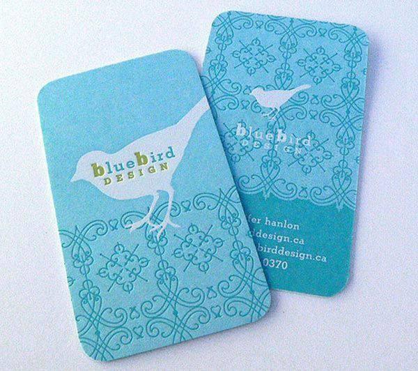 In card visit bo góc giấy mỹ thuật