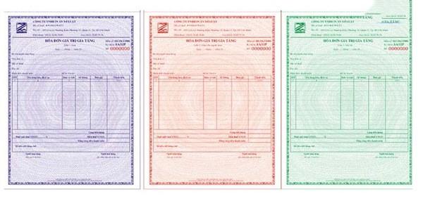 Mẫu in hóa đơn đỏ