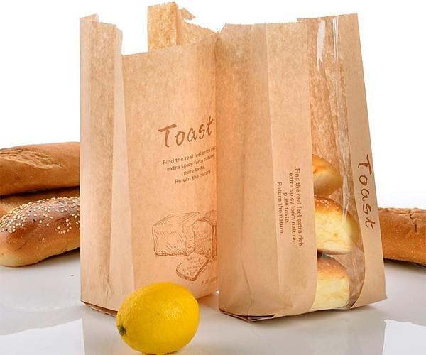 In túi kraft đựng bánh mỳ