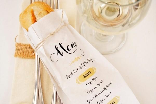 in túi giấy kraft mỏng đựng bánh mỳ