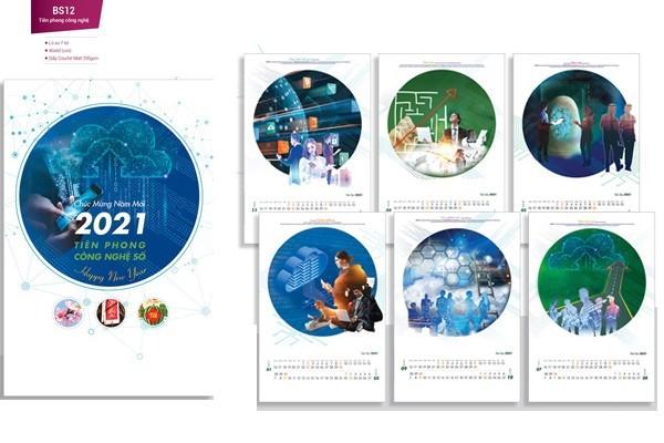 Mẫu lịch nẹp thiếc 7 tờ 2021 - Tiên phong Công Nghệ