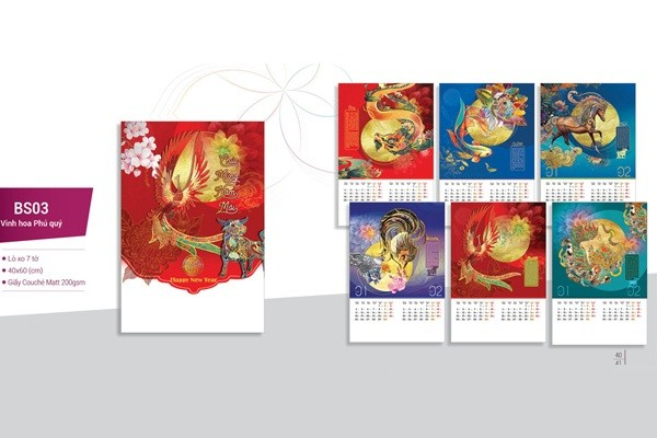 in lịch nẹp thiếc 2021 giá rẻ Hà Nội